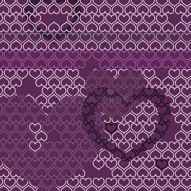 Vector heart pattern motive royalty free stock photos