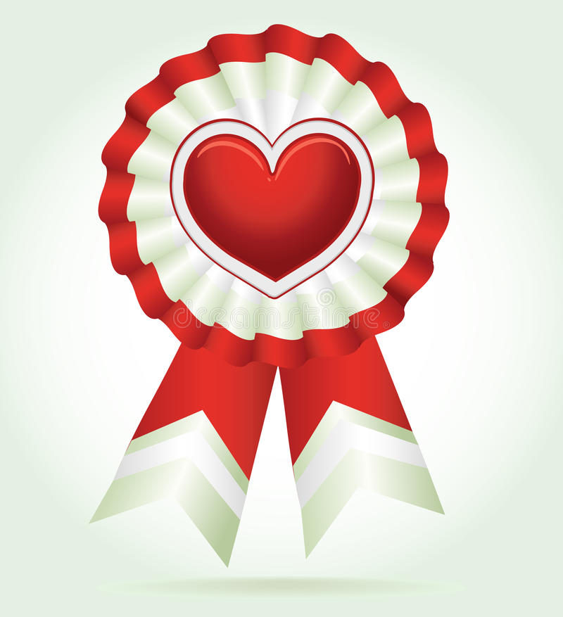 Vector heart red award stock images