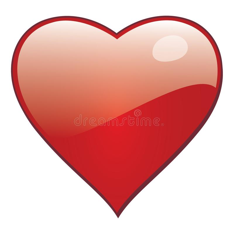 Download Vector Heart For Saint Valentine Greeting Cards And Romantic Love. Stock Vector - Illustration of colored, cards: 118946266