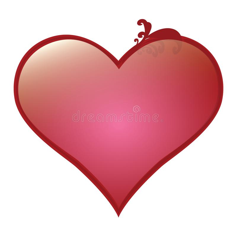 Vector heart for saint Valentine greeting cards and romantic love. royalty free stock photos
