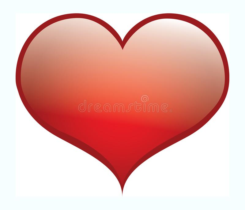 Vector heart for saint Valentine greeting cards and romantic love. royalty free stock photo