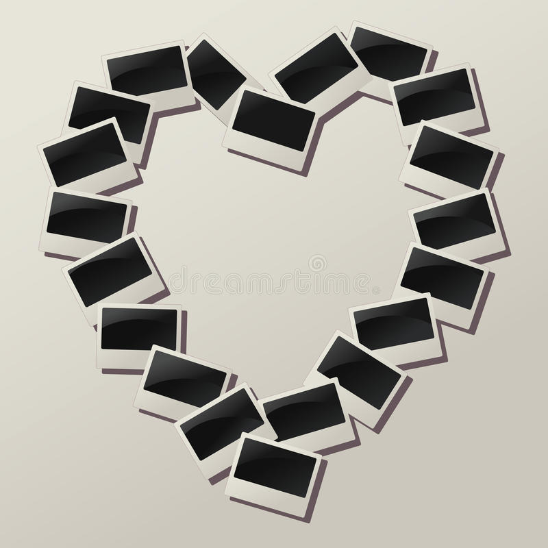 Download Vector Heart Shape Of Empty Photos Stock Vector - Image: 21999203