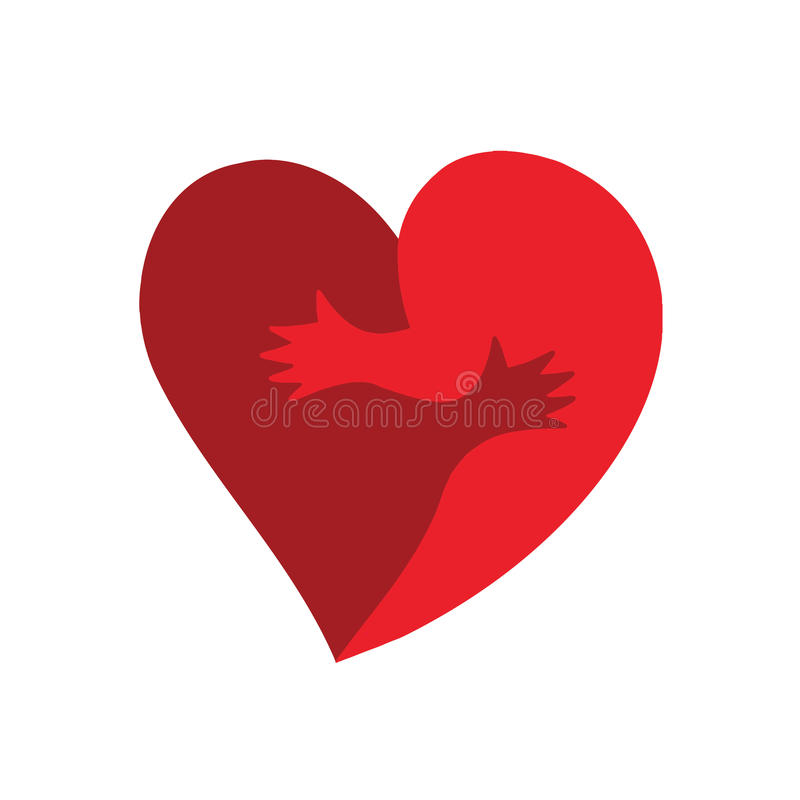 vector heart shape of two halves hug stock vector illustration of rh dreamstime com heart shaped wreath vector vector heart shape free