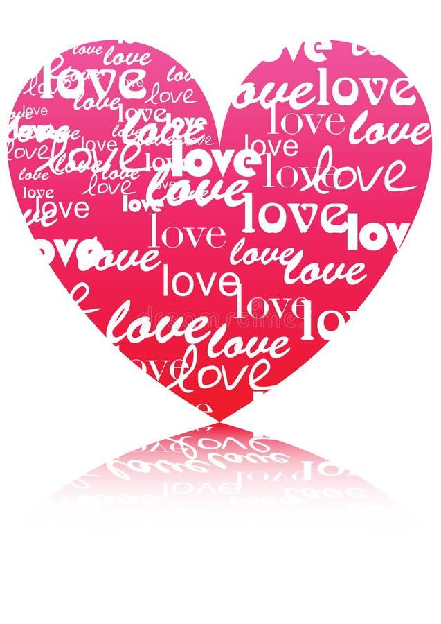 Vector heart symbol royalty free stock image