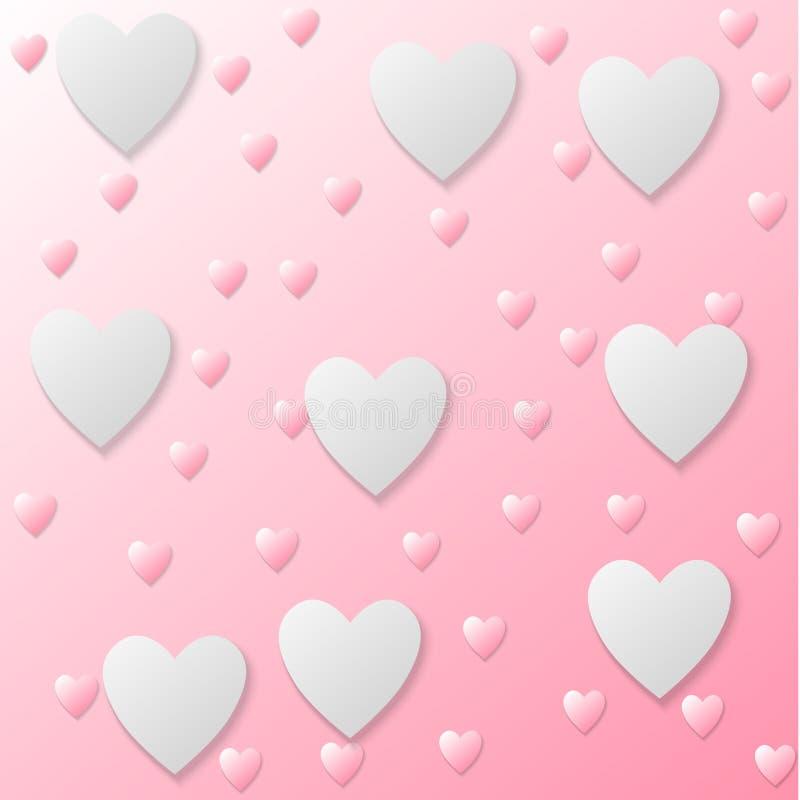 Vector heart texture stock illustration