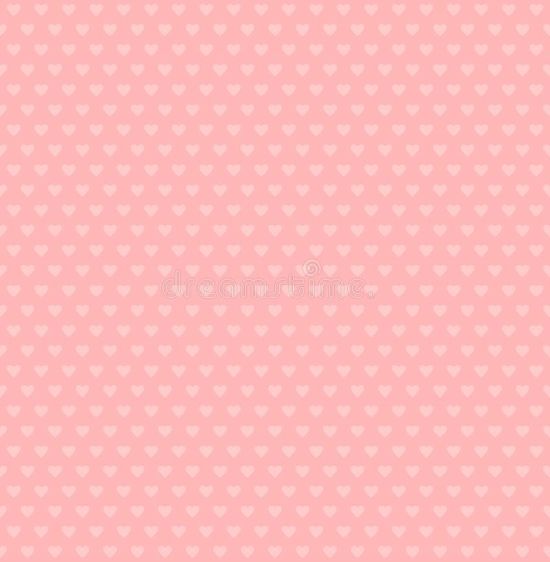 Vector hearts shapes. simple pink background. valentines seamless pattern. wedding texture vector illustration