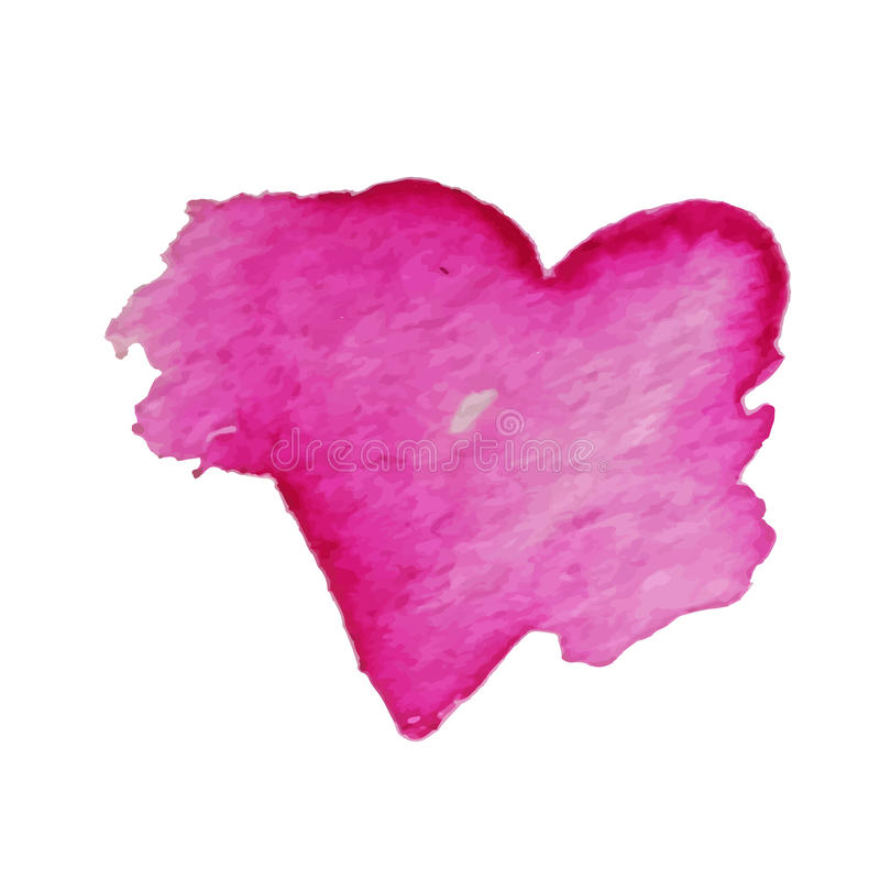 Vector hearts for Valentine s Day in a watercolor style. Hand-drawn various hearts on white background. Element for your design royalty free illustration