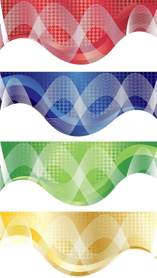 Vector heldere banner royalty-vrije illustratie