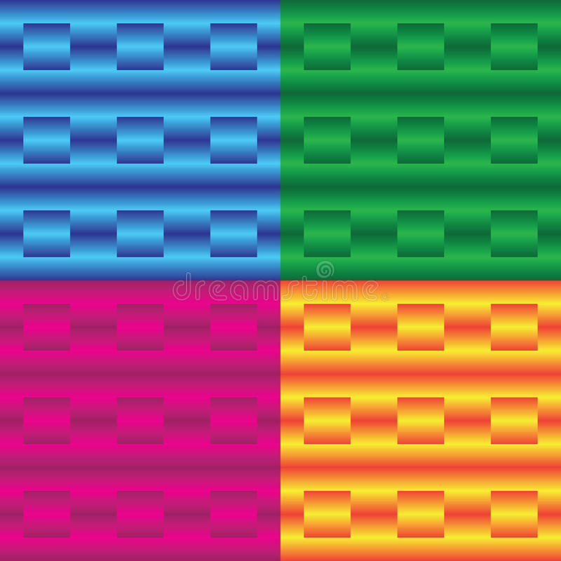 Vector heldere reeks achtergronden met lijnen en vierkanten royalty-vrije illustratie