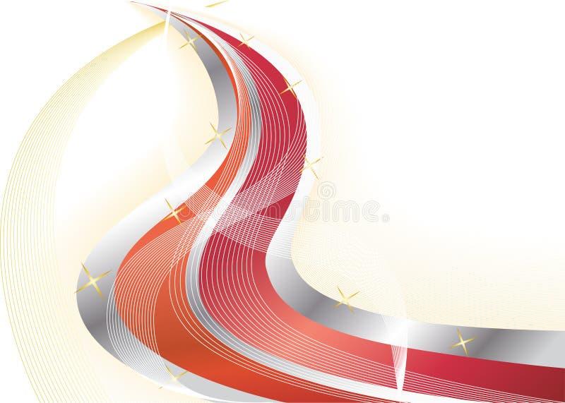 Vector heldere rode achtergrond royalty-vrije illustratie