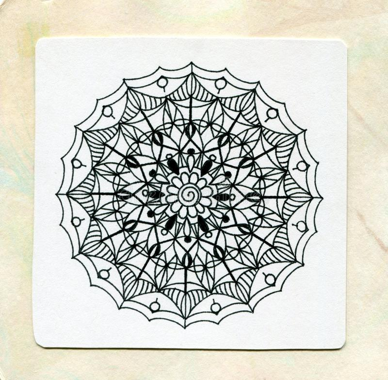 Vector henna tattoo mandala.Decorative pattern in oriental style. Coloring book page. royalty free stock photos