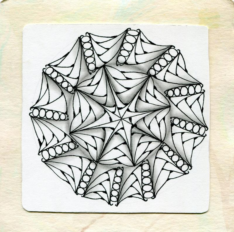 Vector henna tattoo zentangle.Fresh and simple style. Coloring book page. stock photography