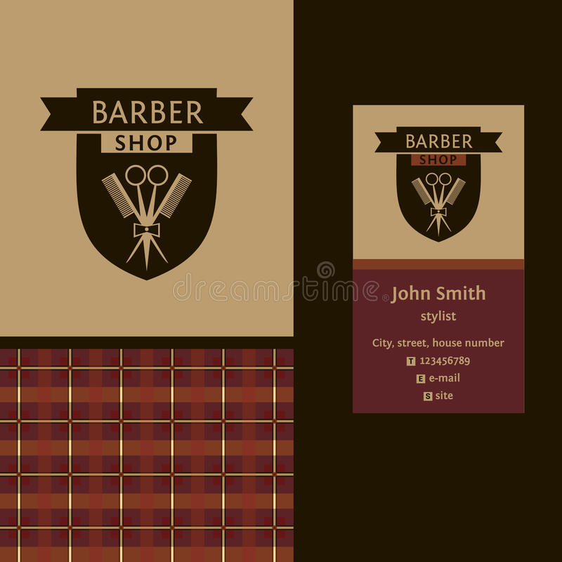Free Vector Heraldic Logo For A Hairdressing Salon Royalty Free Stock Photography - 49595707
