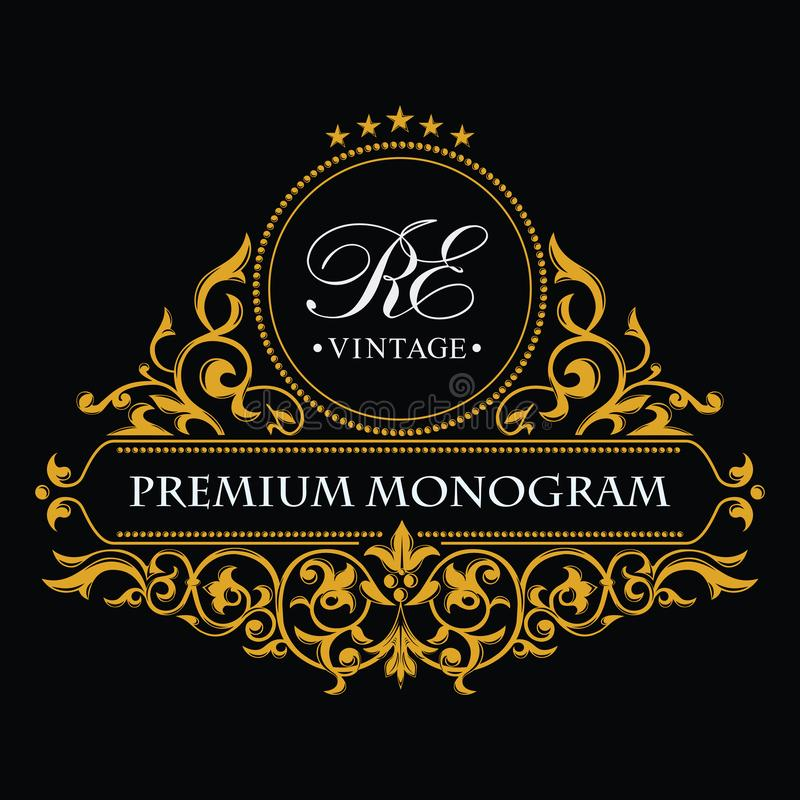 Monogram Design Elements, Graceful Template. Calligraphic