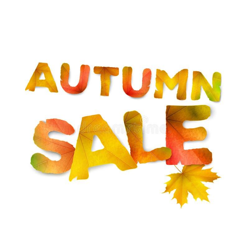 Vector Herbstverkaufs-Vektorhintergrund, Plakat oder Kartenschablone lizenzfreie abbildung