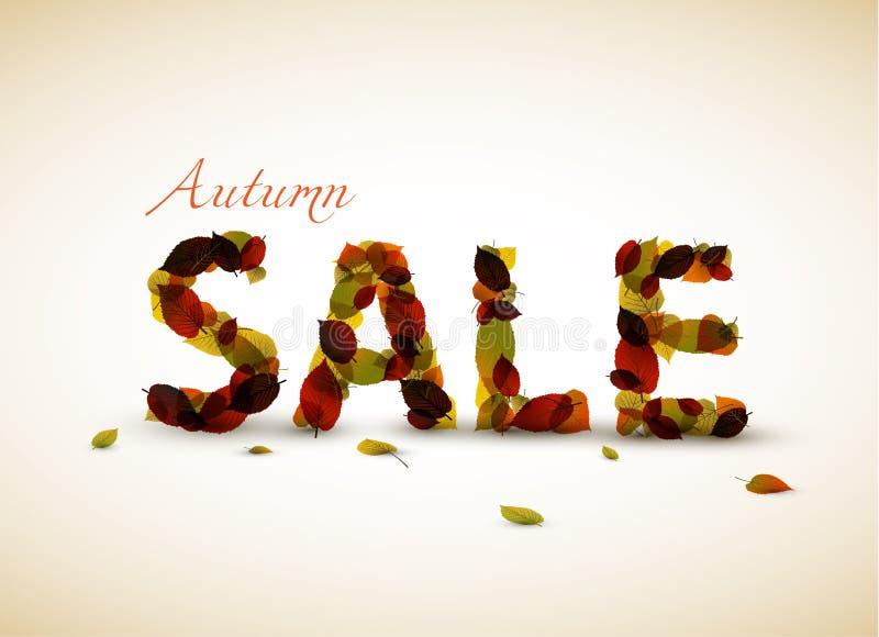 Vector Herbstverkaufsplakat lizenzfreie abbildung