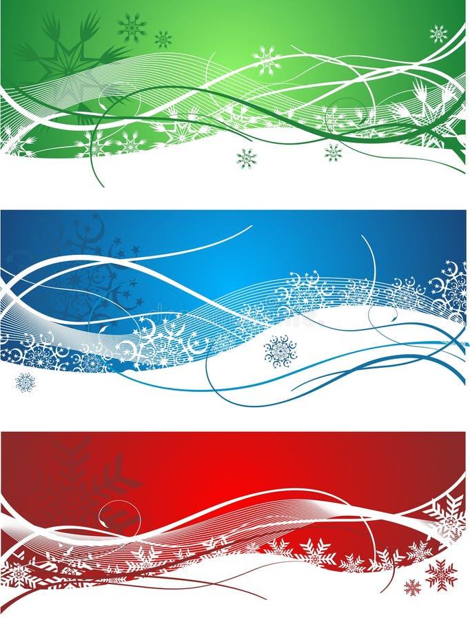 Vector hermoso de las banderas de la Navidad ilustración del vector