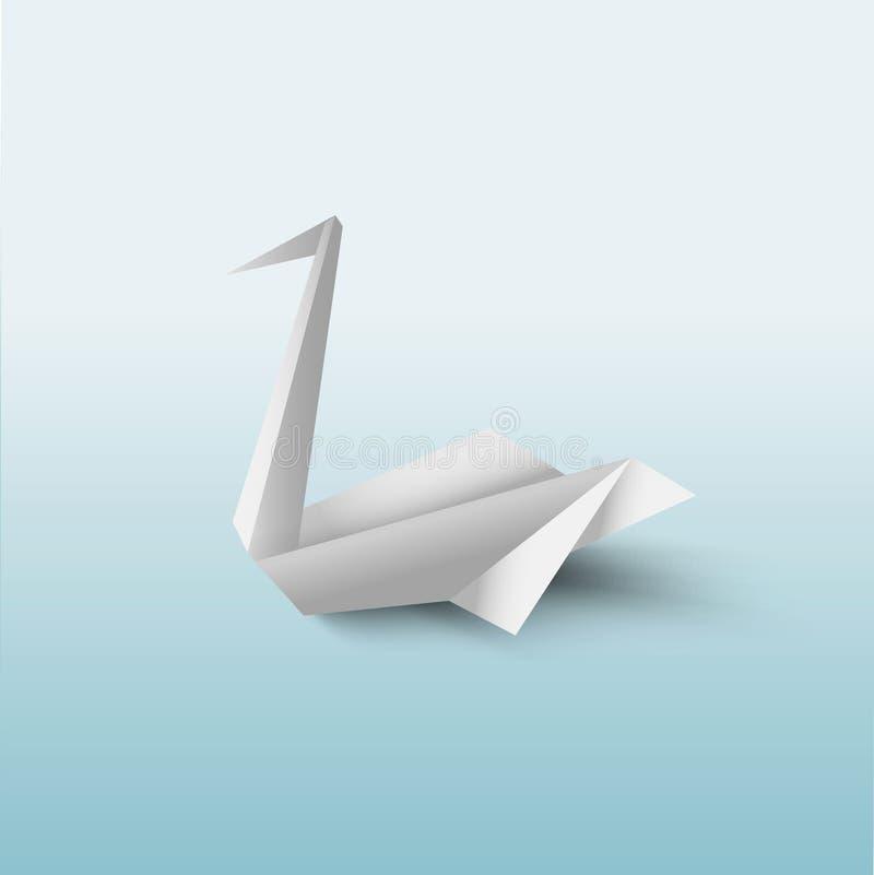 Vector het document van de origamipelikaan vogel op transparante achtergrond N'art -n'art-ure vector illustratie