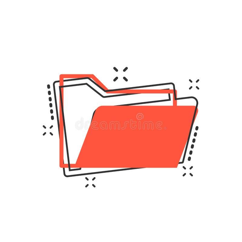 Vector het documentpictogram van de beeldverhaalomslag in grappige stijl Archiefgegevens stock illustratie