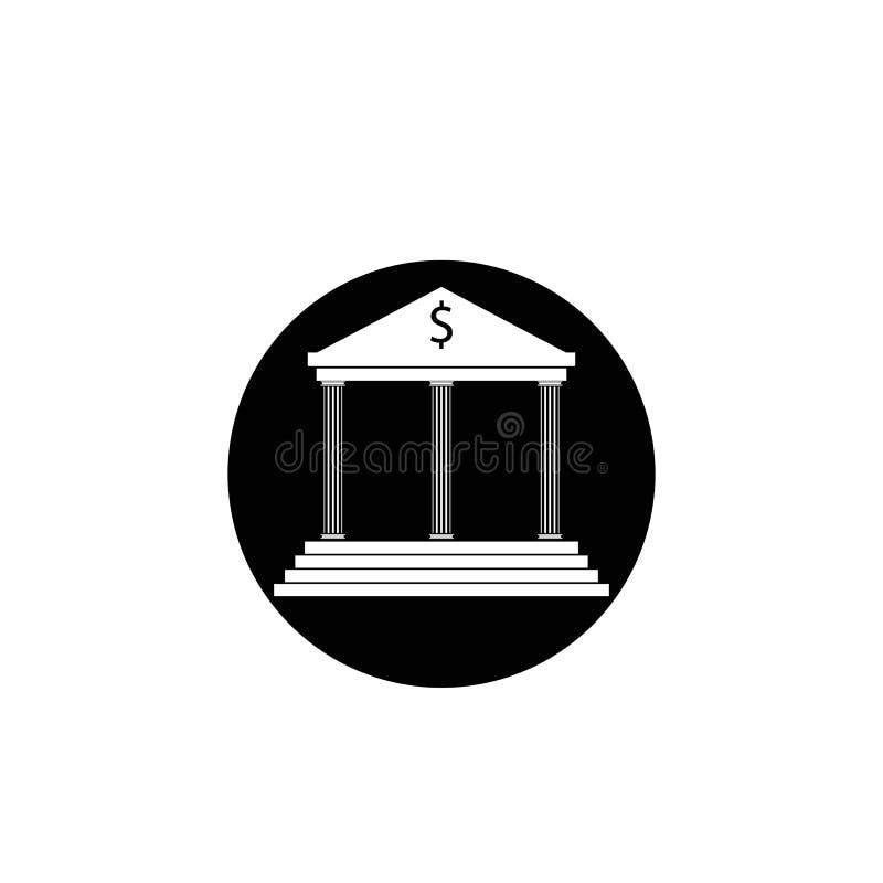vector het embleemmalplaatje van het bankpictogram stock illustratie