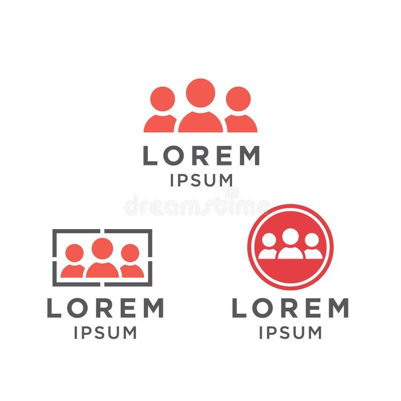 Vector het embleemontwerp van het illustratiepictogram voor gemeenschap en organisatie royalty-vrije illustratie