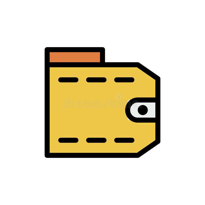 Vector het embleempictogram of illustratie van de portefeuille financiële Zomer o Perfect gebruik voor patroon en grafisch ontwer vector illustratie