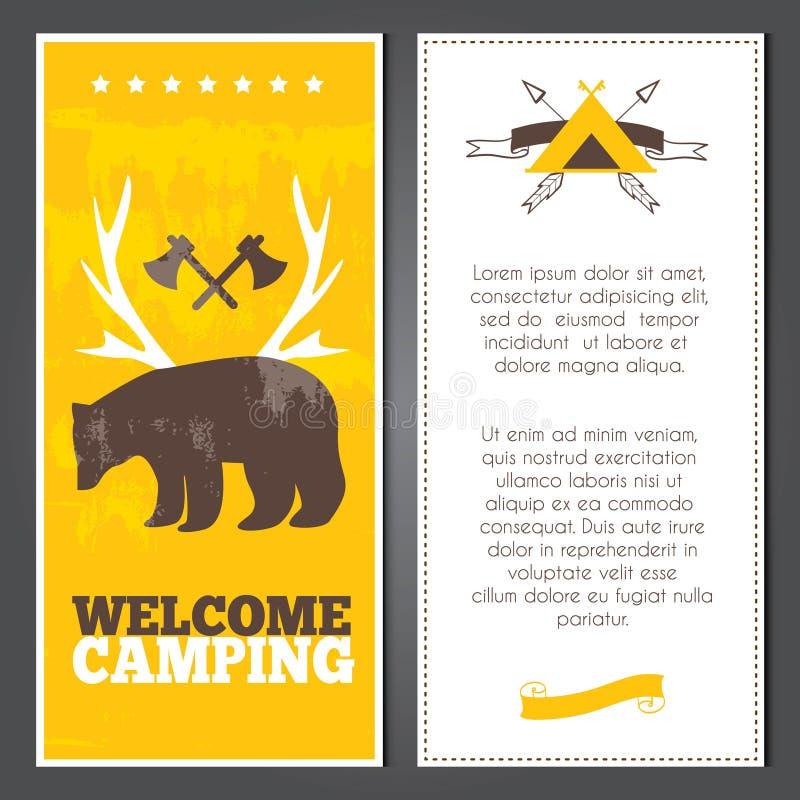 Vector het kamperen uitnodiging stock illustratie