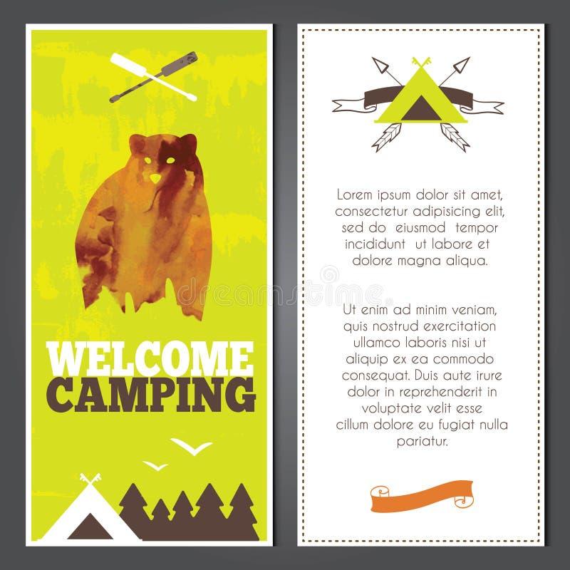 Vector het kamperen uitnodiging vector illustratie