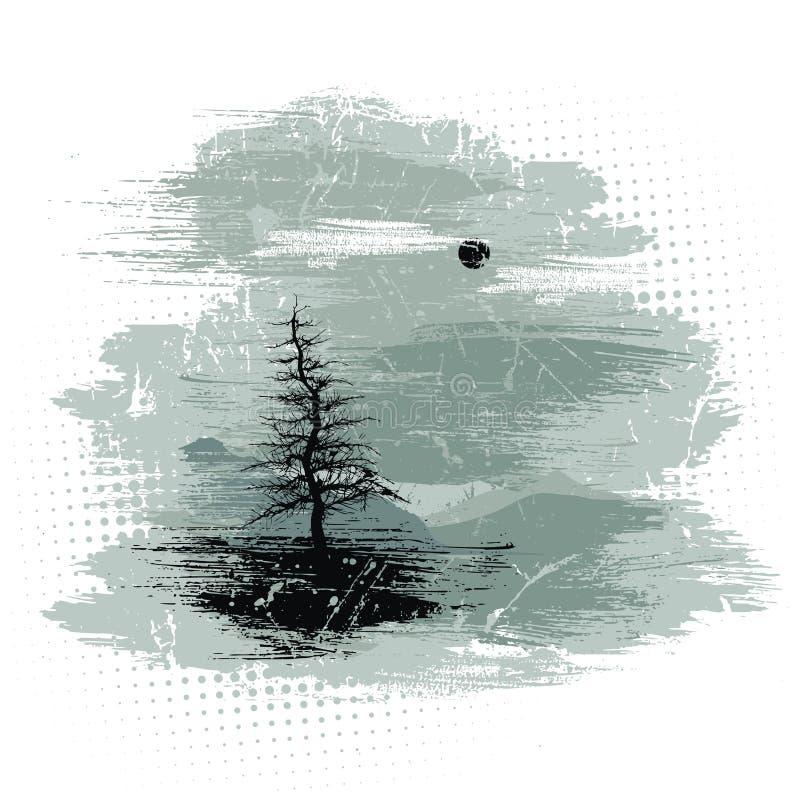 Vector. Het Landschap van Grunge vector illustratie