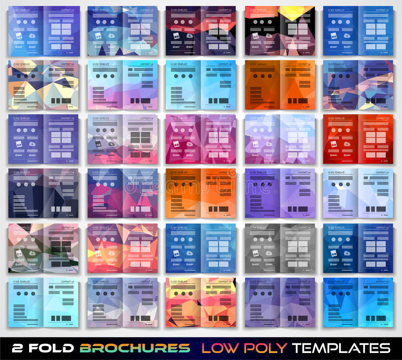 Vector het malplaatjeontwerp van de trifoldbrochure of vliegerlay-out royalty-vrije illustratie