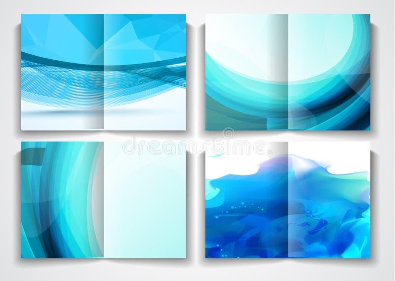 Vector het malplaatjeontwerp van de trifoldbrochure of vliegerlay-out stock illustratie