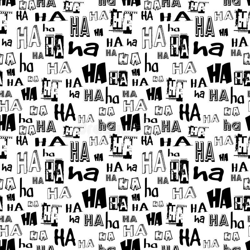 Vector Het naadloze patroon van Ha Ha Grappige achtergrond geschikt voor document of textieldruk, kaart of Webachtergrond Geen ac stock illustratie