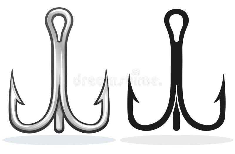Vector het ontwerpbeeldverhaal van de vissenhaak stock illustratie