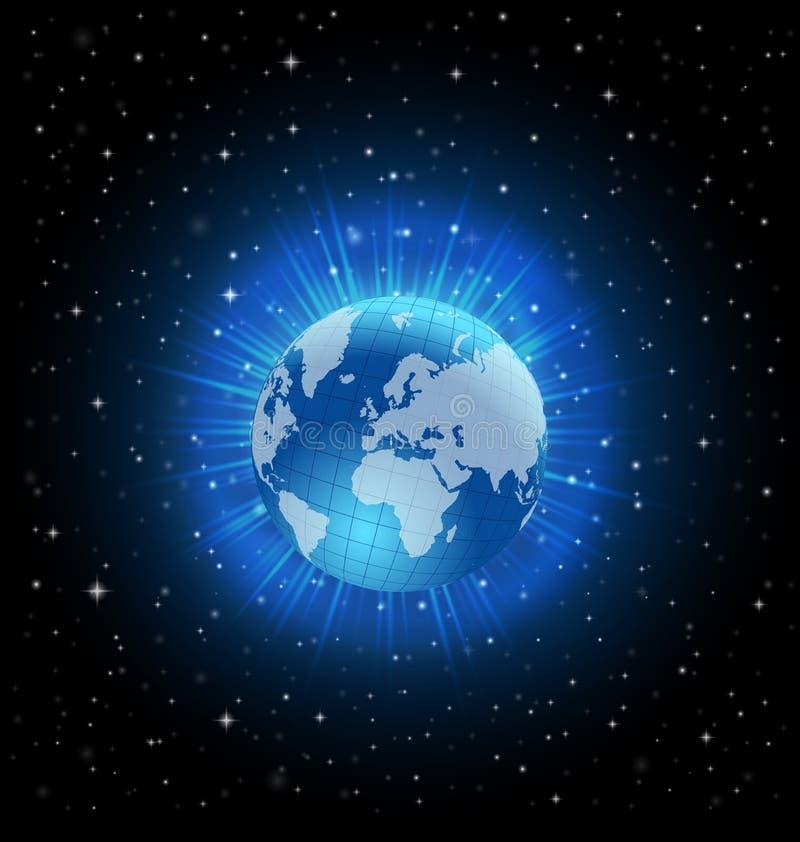 Vector het ontwerpconcept van de wereldbol vector illustratie
