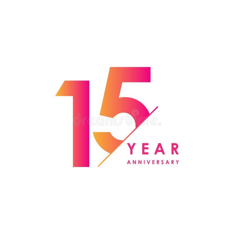 Vector het Ontwerpillustratie van de 15 Jaarverjaardag royalty-vrije illustratie