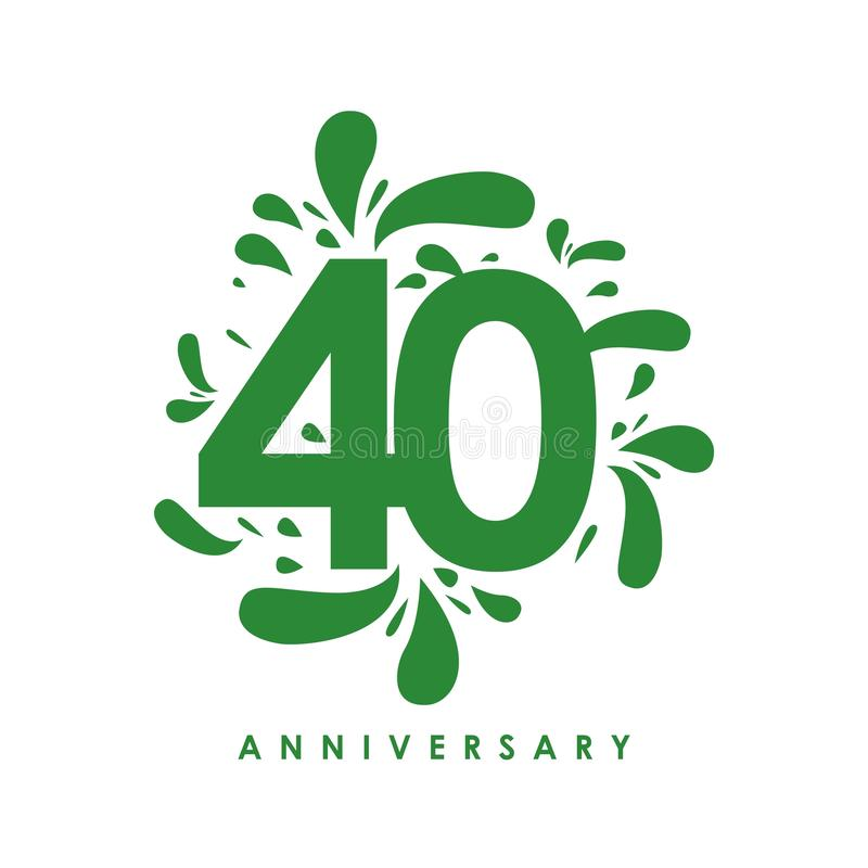 Vector het Ontwerpillustratie van de 40 Jaarverjaardag royalty-vrije illustratie