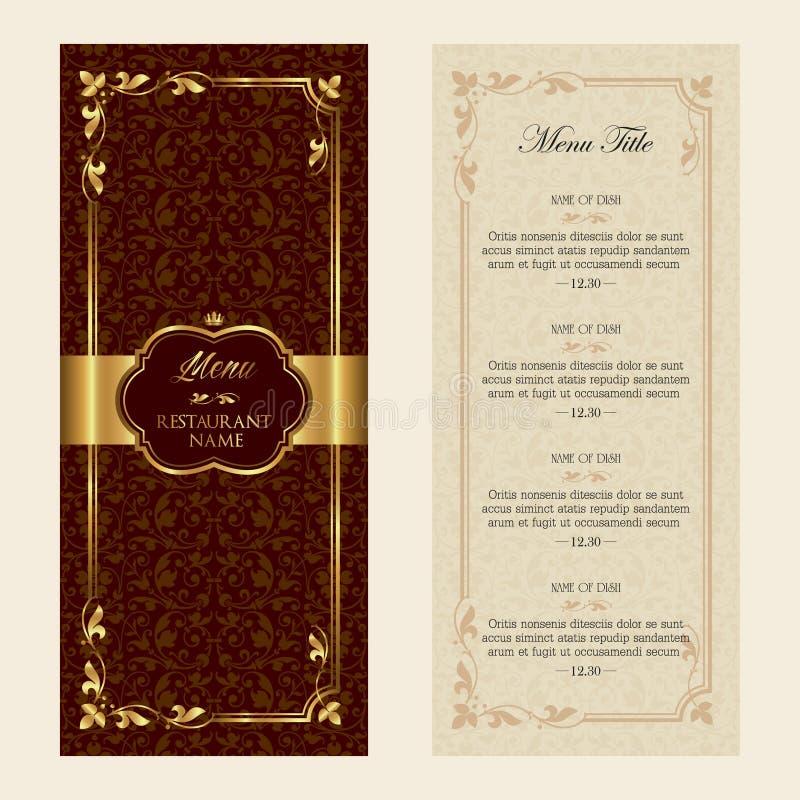 Vector het ontwerpmalplaatje van het restaurantmenu - uitstekende stijl vector illustratie