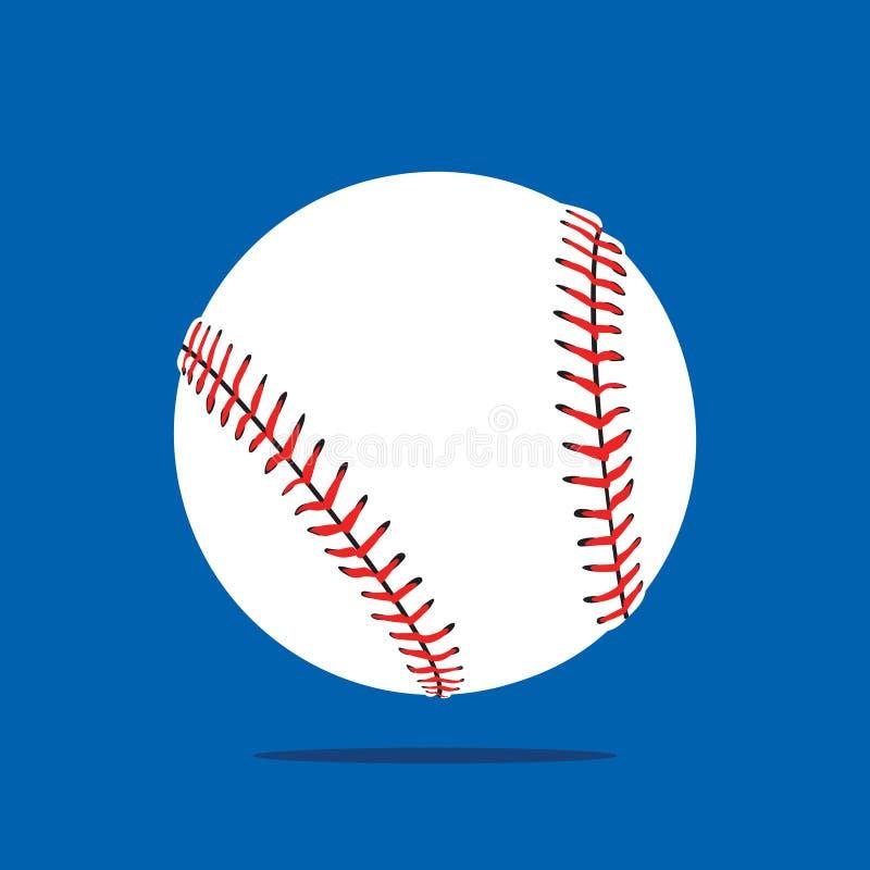 Vector het Pictogram Vlak Ontwerp van de honkbalbal vector illustratie