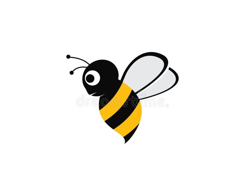 Vector het pictogramillustratie van bijenlogo template stock illustratie