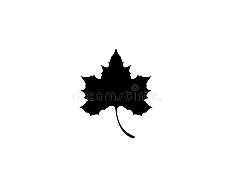 Vector het pictogramillustratie van het esdoornblad stock fotografie