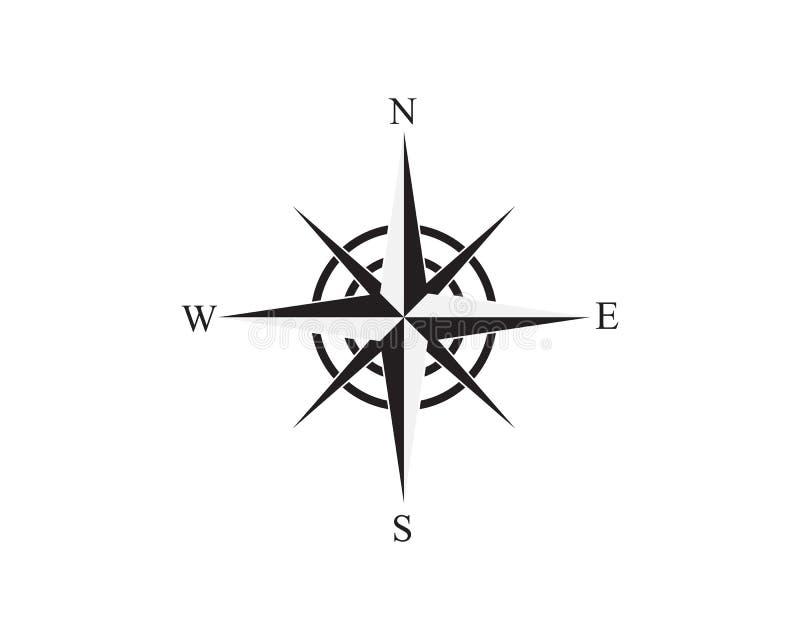 Vector het pictogramillustratie van kompaslogo template stock illustratie