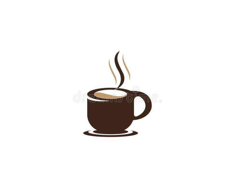 Vector het pictogramontwerp van Logo Template van de koffiekop royalty-vrije stock foto's