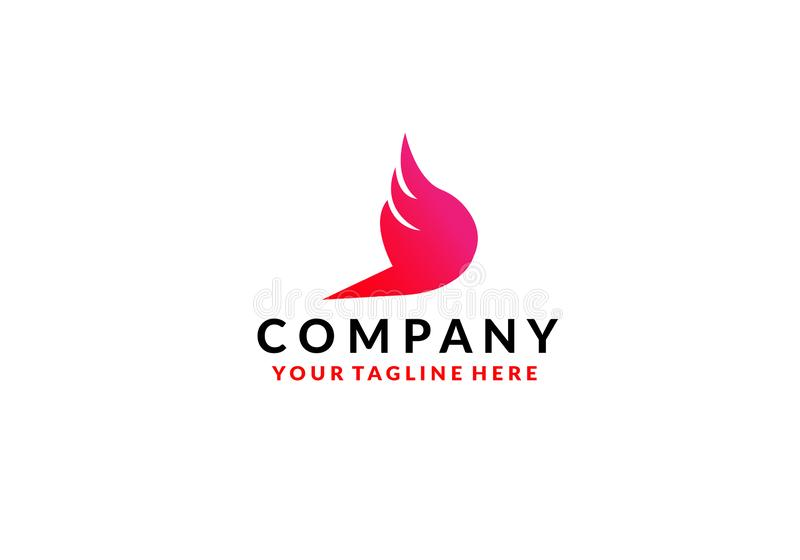 Vector het pictogramontwerp van Wing Logo Template stock illustratie