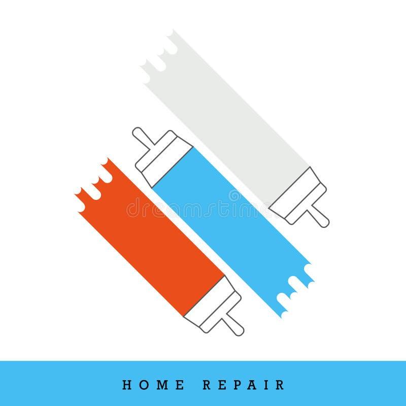 Vector het Pictogramreeks van de huisreparatie stock illustratie