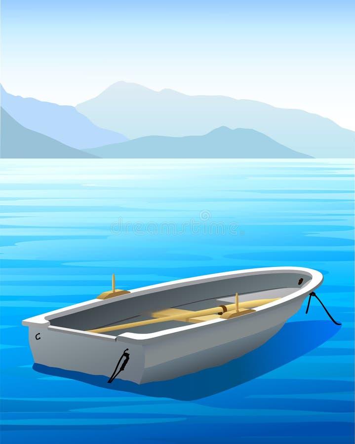 Vector het Roeien Boot stock illustratie