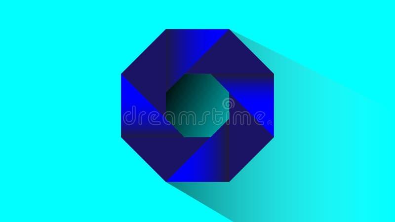 Vector hexagonal azul del remolino 3d libre illustration