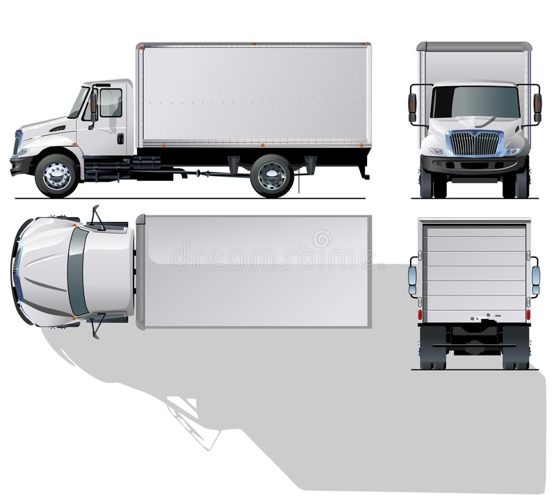 Vector Hi-detailed Commercial Truck Royalty Free Stock Photos