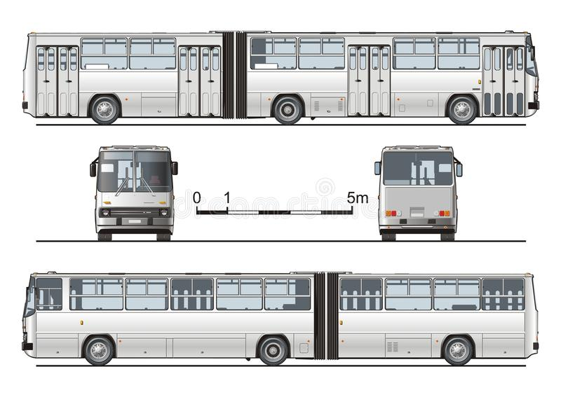 Vector hi-detailed urban bus vector illustration