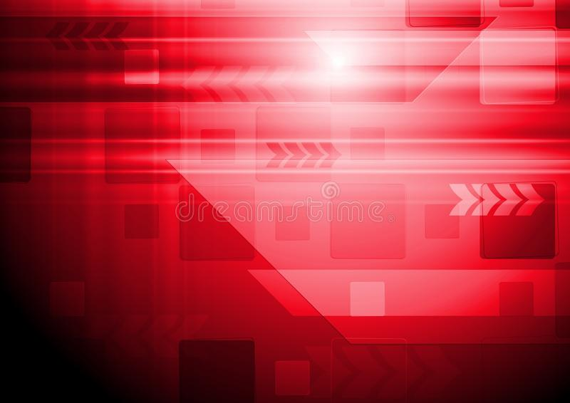 Vector hi-tech background with arrows. Bright red technology design with arrows. Vector backdrop eps 10 stock illustration