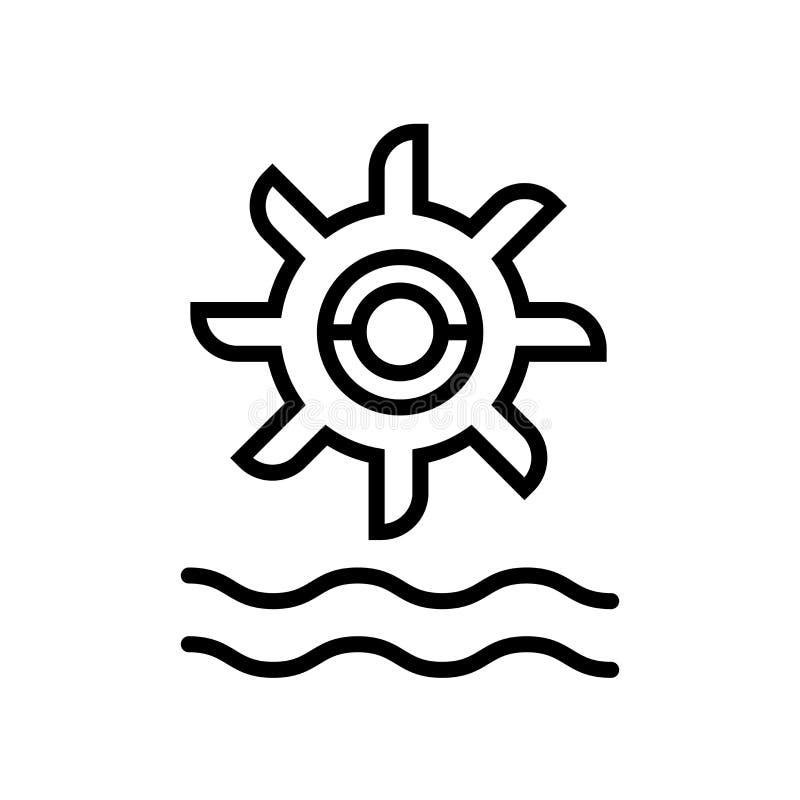 Vector hidráulico del icono del poder aislado en el fondo blanco, la muestra hidráulica del poder, la línea o la muestra linear,  ilustración del vector